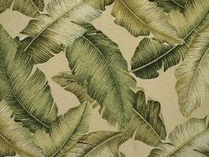 Tropical Hawaiian Cotton Barkcloth Fabric Shower Curtain Banana Leaves Beige | eBay
