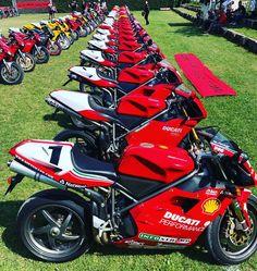 A beautiful sight ❤️ Ducati 996, Ducati Superbike, Ducati Motorcycles, Motogp, Cars And Motorcycles, Ducati Sport Classic, Biker Photography, Moto Bike, Sportbikes