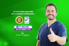 Try Your Future Smile NOW at Smile Creators Dental Clinic with our Newest Technologies! Dr. Elie GEMAA - Head Of Smile Creators Dental Clinic - ISO9001:2008 QUALITY CONTROL Call us NOW on 71 - 680 660 and book your Appointment! www.smilecreators-lb.com جرب ابتسامتك المستقبلية الآن د.ايلي جمعة اتصل الآن على 71680660 للمواعيد #SmileCreatorsDentalClinic Boulevard Sin El Fil - Main Road Certified Dental Quality Services #ISO9001: 2008