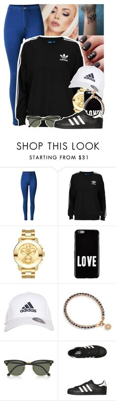 """""""I was fighting alone with a broken sword, Now I'm caught in a war with no shield"""" by yazbo ❤ liked on Polyvore featuring NYX, adidas Originals, Movado, Givenchy, adidas, Astley Clarke and Ray-Ban"""