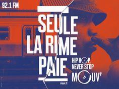 La radio Mouv' s'affiche dans les grandes villes de France
