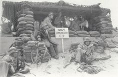 One of the communications sections of the 2nd NBB on Utah Beach.