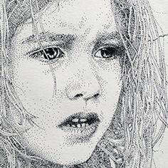 The awesome pointillism style drawings by the Spanish artist Pablo Jurado Ruiz.