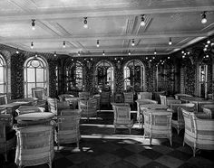The verandah cafe aboard the RMS Titanic