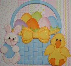 paper piecing easter | PAPER PIECING BLUE EASTER BASKET BTDL TYCAALAK