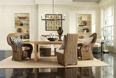 Simple Indoor Decorating with Classic Wicker Chair-All set