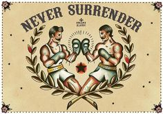 Never Surrender by Susana Alonso Old School Boxer Tattoo Canvas Fine Art Print Tatuajes New School, Boxer Tattoo, Stolz Tattoo, Boxing Tattoos, Los Mejores Tattoos, Boxing Posters, Old School Tattoo Designs, Tattoo Themes, Kunst Tattoos