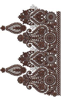 Embroidery Border Design 14273