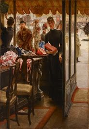 Art Gallery of Ontario    La demoiselle de magasin (1878 - 1885)Details  James Tissot