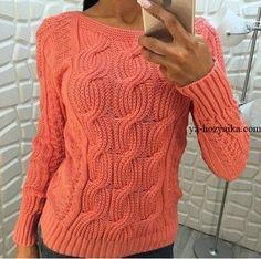 Красивый узор для пуловера. Вязаные модные пуловеры 2018
