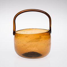 "MALJA - Glass bowl ""Sargasso"" for Nuutajärvi Notsjö, Finland. [Ø 18 cm, h. 23 cm]"