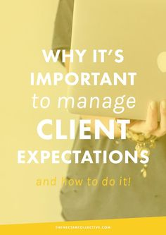 Why It's Important to Manage Client Expectations (And How To Do It)   One of the most important things you'll do as a freelancer, business owner, or creative entrepreneur is exceed the expectations of your clients. This can be tough when everyone has a different vision, but today we're uncovering the exact steps you can take! @nectarcollect