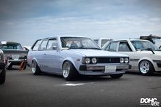 TE72 Toyota corolla wagon on cult classic BBS RS wheels