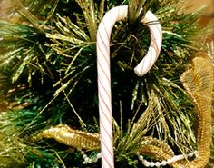 Glass Candy Cane Ornaments by ABreathofFreschAir on Etsy, $15.00