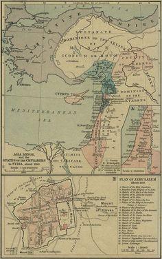 Ásia Menor e Estados Cruzados-1140 AD