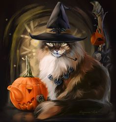 Now anybody can be an artist with DIY diamond painting kit and create stunning masterpieces like our Halloween Cat Diamond Painting Kit. All kits includes everything you need to create a beautiful work of art achieving the subtle tones Retro Halloween, Fröhliches Halloween, Halloween Pictures, Halloween Costumes, Witch Cat, Cat Wallpaper, Iphone Wallpaper, Halloween Wallpaper, Cat Drawing