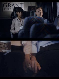 """Olivia comforts Fitz on the campaign bus after Mellie announces on live TV that she had a miscarriage. Fitz explains to Olivia it was all a lie to drum up votes. """"What kind of coward was I to marry her and not wait for you to show up."""" —Fitz"""
