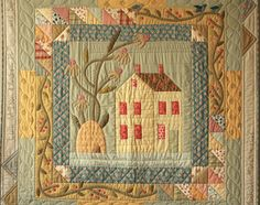 A personalized house quilt - what a great gift!