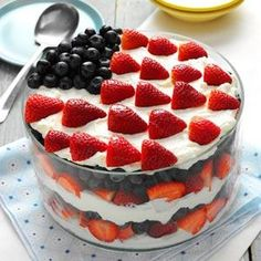 Red, White and Blue Dessert Recipe from Taste of Home