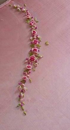 Silk Ribbon Embroidery Kit Handmade Oriental Wall Hanging Art Asian Decoration Big (No frame) - Embroidery Design Guide Embroidery On Kurtis, Hand Embroidery Dress, Kurti Embroidery Design, Hand Embroidery Videos, Silk Ribbon Embroidery, Embroidery Works, Hand Embroidery Patterns Flowers, Simple Embroidery Designs, Embroidery Ideas