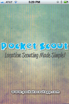 Pocket Scout for Photographers  Great Idea Location Scouting