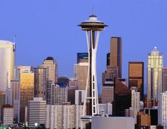 Downtown Seattle and Space Needle