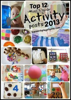 Learn with Play at Home: Top 12 Activity posts 2013 from Learn with Play at Home