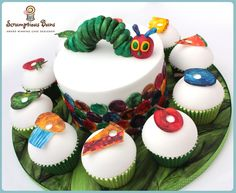 The Very Hungry Caterpillar Birthday Cake, from Scrumptious Buns x