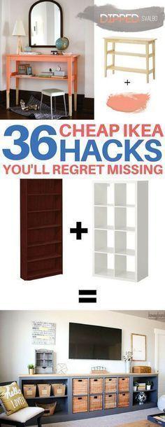BRILLIANT Ikea hacks you have to see to believe! Cheap & easy ikea hacks, diy home decor, diy room decor, living room ideas, bedroom ideas, kitchen ideas