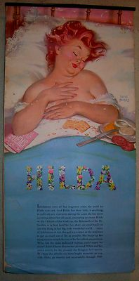 Vtg 60s 1960 Duane Bryers Hilda Pin-Up Calendar 7 PRINTS FULL CALENDAR Redhead