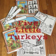 Thanksgiving: 5 Little Turkeys Differentiated and Interactive Book: the repeating line helps beginner readers or speakers. This poem is a great one for Circle Time or to set up in a Reading Center. This has been differentiated so that a variety of student