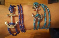 Lot de 2 bracelets ancre mixte