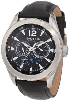 Nautica Men's N14621G Classic Coin / NCS 650  Watch NAUTICA. $88.55. 42 mm. Quartz movement. Durable mineral crystal protects watch from scratches. Water resistant to 330 ft. Stainless steel case. Save 39% Off!