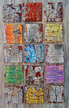 """""""Sin Titulo"""", distressed Bark on wood Inspiration Artistique, Weathered Paint, Sea Crafts, Collage, Nature Artwork, Collaborative Art, Pallet Art, Mosaic Patterns, Texture Art"""