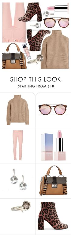 """""""Pink & Brown"""" by stacey-lynne ❤ liked on Polyvore featuring Totême, Prada, Balenciaga, Sephora Collection, Miu Miu, Aaron Jah Stone, STELLA McCARTNEY and Lancôme"""