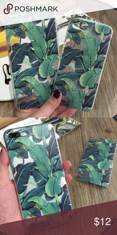 BANANA LEAF IPHONE 7 PLUS CASE TRENDY BANANA LEAF IPHONE 7 PLUS CASE  HIGH QUALITY TPU  SHIPS THE SAME BUSINESS DAY  VERY POPULAR AND TRNEDY Accessories Phone Cases
