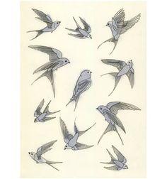 Arte di uccello. L'uccello blu della felicità di matouenpeluche, $17.00