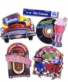 Sock Hop Fabulous 50's Cutouts--great for party invites!