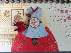 Korean Traditional Designed Envelope with Memo Card by lovingpaper