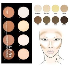 NYX COSMETICS  Highlight & Contour Pro Palette - GoGetGlam  - 1