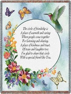 Personalized Circle Of Friendship Inspirational Tapestry Throw