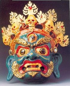 The exorcisers' masks are a unique handicraft in Guizhou Province. Fashioned out of wood and tree roots, they range in imagery from the grotesque to the good and genuine. Such masks can be as small as several centimeters and as large as two metres. The exorcising culture of the Mial villages in Guizhou is regarded as a gem in folk Chinese culture.