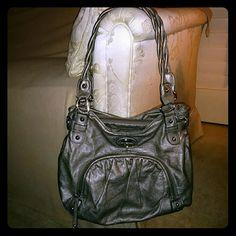 Rossetti Pewter faux leather bag. EUC. Rosetti Bags