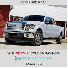 Look at this!!! $2,774 in #Coupon #Savings on this Great 2013 #F-150!!! Call now for this #deal!! Also check our website for more inventory: www.wowcarcoupon.com