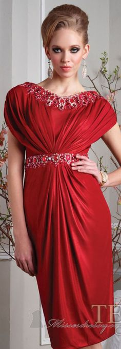 Jersey Dress by Terani Couture Evening #red #elegant #dress
