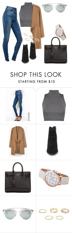 """Untitled #367"" by charlotte-down on Polyvore featuring ASOS, WearAll, MANGO, Steve Madden, Yves Saint Laurent, Christian Dior and River Island"
