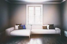 Large two part modular living room sofa