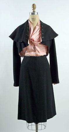 Suit wool silk  1949