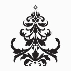 Xmas Tree Baroque Decal