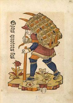 Le marchand de fagots    Cris de Paris, vers 1500  BnF, Arsenal, Est. 264 Rés. pl. 11